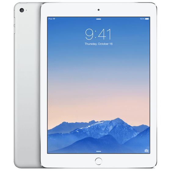 iPad Air 2 32GB Zilver Wit