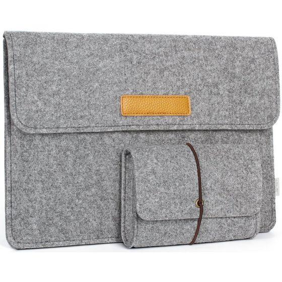 Laptop Vilten Sleeve - 13 inch - Grijs